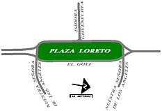 Plaza Loreto de Santiago de Chile (plano) - Loreto Square in Santiago, Chile (map).jpg