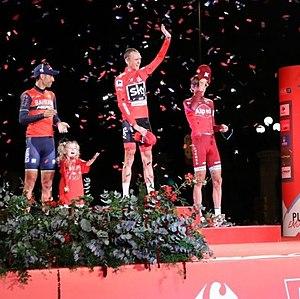 2017 Vuelta a España - Final podium of the 2017 Vuelta a España.