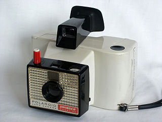 Polaroid Swinger model of Polaroid camera