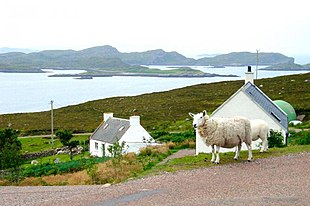 Polbain looking south to the Summer Isles