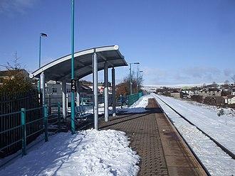 Pontlottyn railway station - Image: Pontlottyn railway station in 2009