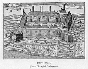 Jesuit missions in North America - Port Royal circa 1612.