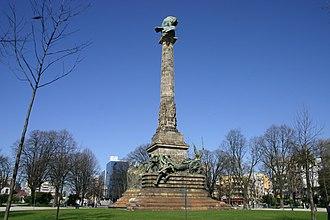 Rotunda da Boavista - Rotunda da Boavista and its commemorative column.