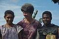 Portrait of Bethesda volunteer Susan Larsen with students Kathleen and Andyson. (10714217904).jpg