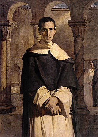 Jean-Baptiste Henri Lacordaire - Henri-Dominique Lacordaire at the convent of Sainte-Sabine in Rome, by Théodore Chassériau (1840), Musée du Louvre