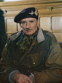 Portrait of Field Marshal Sir Bernard Montgomery on his appointment as Colonel Commandant of the Parachute Regiment, 1944. TR2652.jpg