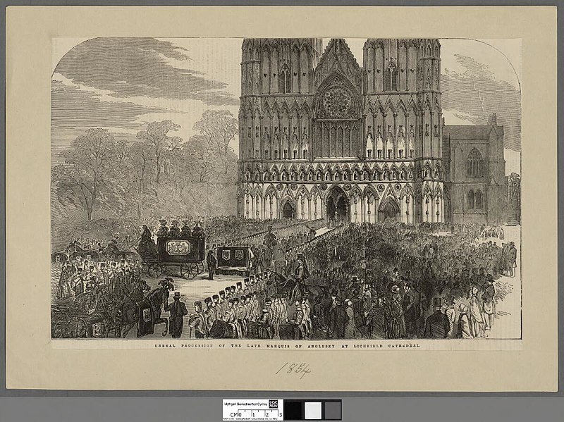 File:Portrait of Funeral procession of the late Marquis of Anglesey at Lichfield Cathedral (4671741).jpg