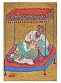 Portrait of an Ahmadnagar Ruler Reclining beneath a Takht (seat) by the Paris Painter, 1565-95 Rampur Raza Library.jpg