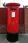 Post box at the corner of Woodchurch Lane & Wharfedale Avenue, Prenton.jpg