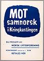 Poster against mandatory Samnorsk, 1955.jpg