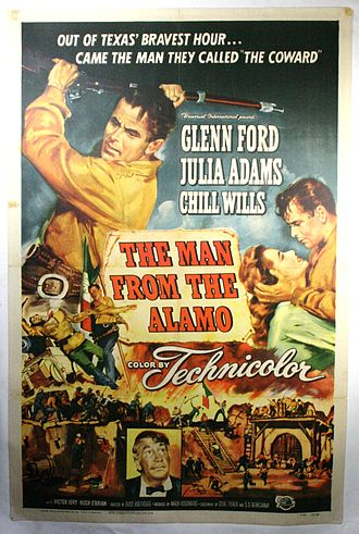 The Man from the Alamo - Theatrical film poster by Reynold Brown