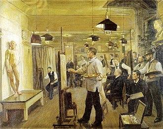 Kristian Zahrtmann - Zahrtmann's School (Poul S. Christiansen, 1899)