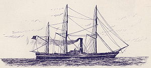 Powhatan, steam frigate, completed 1850.