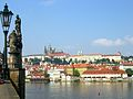Prague Castle and Vltava River, Prague, Czech Republic.JPG