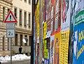 Praha, Malá Strana, Letenská, plakáty.jpg