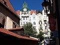 Praha - View ENE towards Pařížká along Altneu Synagogue.jpg