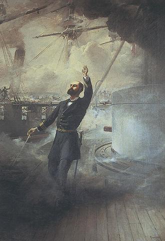 Arturo Prat - Death of Arturo Prat.  Painting by Thomas Somerscales