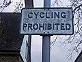 Pre-Worboys path sign, Hampstead Garden Suburb - geograph.org.uk - 1083598.jpg