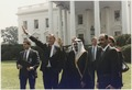 President Bush meets with the Amir of Kuwait, Jabir Al-Ahmad Al-Jabir Al-Sabah at the White House - NARA - 186421.tif