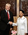 President Gloria Macapagal-Arroyo shakes hands with His Excellency Thordur Aegir Oskarsson.jpg