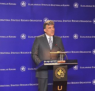 International Strategic Research Organization - Turkish President Abdullah Gül gives the first lecture at the USAK, 4 November 2009