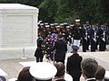 President Obama laying a wreath at the Tomb of the Unknown Soldier (3563784538).jpg