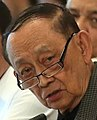 President Rodrigo Duterte listens to the reports of former President and Special Envoy to China Fidel V. Ramos during the 5th Cabinet Meeting (cropped).jpg