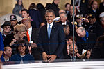President and first lady wave to performers at 57th Inaugural Parade 130121-Z-QU230-270.jpg