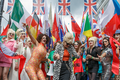 Pride in London 2016 - Joanna Lumley as Patsy Stone from Absolutely Fabulous and drag performers before the parade.png
