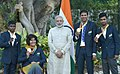 Prime Minister Narendra Modi with the medal winners of the Rio 2016 Paralympics (29311262974).jpg
