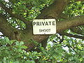Private Shoot sign near Stoak, Cheshire - DSC06330.JPG