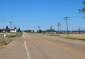 Prospect Valley, Colorado - Prospect Valley, looking west along State Highway 52.