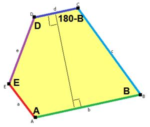 Pentagonal tiling - Image: Prototile p 5 type 1