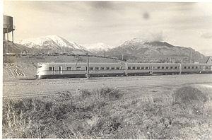 Ferrocarriles Patagónicos - Railcar by Ganz near Bariloche, 1945.