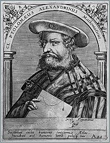 Ptolémée d'après une gravure allemande du XVIe siècle