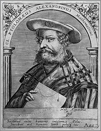 Claudius Ptolemäus, Picture of 16th century bo...