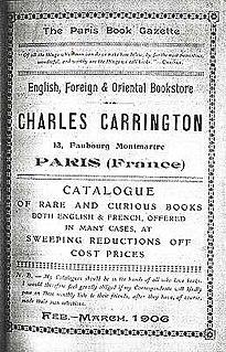 Charles Carrington British publisher of erotica