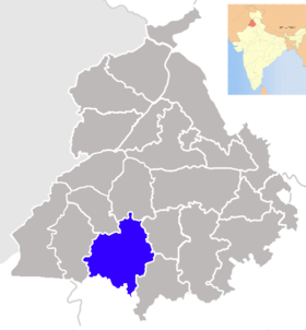 Localisation de District de Bathinda