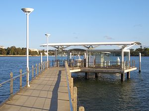 Kissing Point ferry wharf - Wharf in September 2007