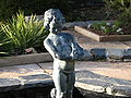 Putto statue over a fountain at Sarah P. Duke Gardens.jpg