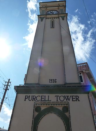 Pyin Oo Lwin - Purcell Clock Tower in downtown
