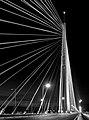 Pylon of Ada Bridge by night (Sava river, Belgrade, Serbia) ks01.jpg