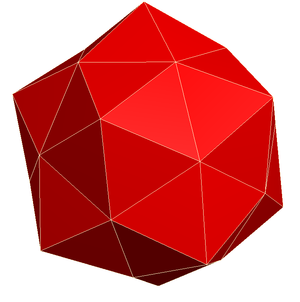 Pentakis dodecahedron - A non-convex variant with equilateral triangular faces.