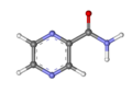 Pyrazinamide ball-and-stick.png