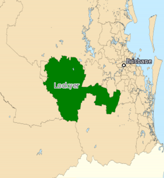 Electoral district of Lockyer - 2008 map