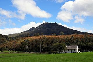 Quamby Bluff mountain in Tasmania, Australia