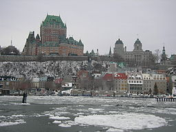 Vy over Gamla Québec i februar 2005