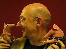 Quentin Cooper (interviewing two of the original Clangers).jpg