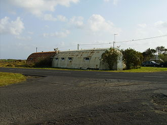 Santa Maria Airport (Azores) - Another Quonset hut that remains in the district of Aeroporto, literally Airport