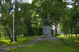Rõuge - Image: Rõuge Vabadussõja mälestussammas